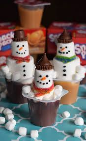 how to make a snowman in a pudding cup adventures of mel