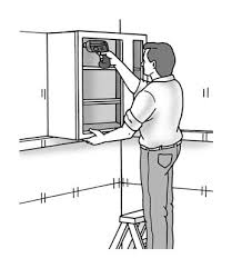 how to fix kitchen base cabinets to wall how to hang wall cabinets dummies