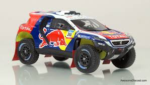 peugeot dakar spark 1 43 2015 peugeot dkr dakar rally car red bull awesome