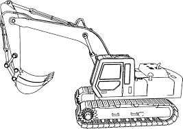 excavator side coloring page wecoloringpage