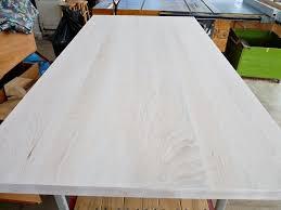 white stain on wood table kitchen progress no stain no gain dans le lakehouse