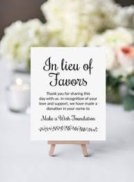 wedding gift donation to charity in lieu of favors sign wedding donation sign navy wedding sign
