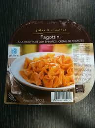 plat cuisiné picard fagottini à la ricotta et aux épinards crème de tomate picard le