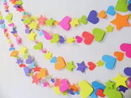 paper decorations 1st 2nd 3rd birthday decorations paper heart and garlands my