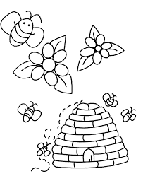 bees and flowers insects coloring pages for kids to print u0026 color