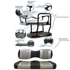 aluminum club car precedent golf cart rear seat kit genesis 300