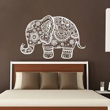 Wall Decals Patterns Color The by Three Elephant Wall Decals India Mandala Buddha Om Vinyl Bedroom