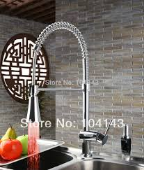 contemporary design popular model pull down led kitchen sink mixer
