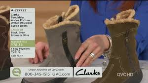womens boots qvc clarks bendables andes fortune water resistant suede boots page