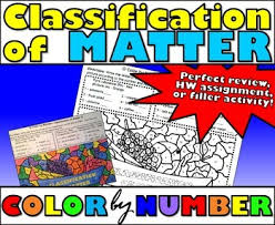 classification of matter color by number by msrazz chemclass tpt