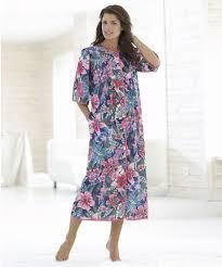 robe de chambre femme coton robe de chambre boutonnée marine imprime femme damartsport