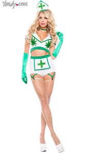 Weed Halloween Costumes Nurse Costume Weed Nurse Costume Green White Plant