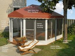free standing screen rooms deck enclosures oblong style screen
