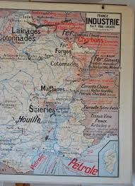 Lourdes France Map by Lablache Map No 8 France Agriculture Industry