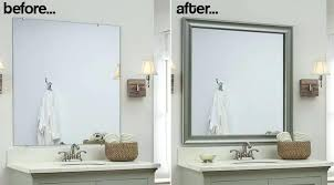 framed bathroom mirrors ideas framing a large bathroom mirror goss2014 com