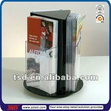 Table Tent Holders by Tsd A565 Factory Supply Rotating Tabletop 3 Side Restaurant Menu