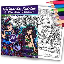 mermaid fairy hannah lynn coloring books