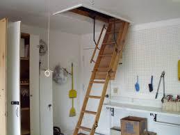 telescoping attic ladder lowes popular option install garage
