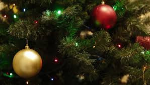 tree with many ornaments up stock footage