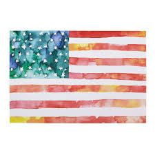 Flag Stakes American Flag Watercolor American Flag Painting Art Uncommongoods