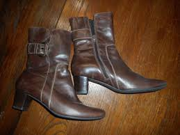 womens brown leather boots size 9 brown ecco womens ecco size 9 40 brown leather boots no tax