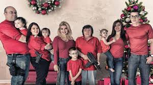 christmas card photo nevada lawmaker posts christmas card showing family armed with