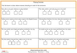 placing commas ks1 spag test practice classroom secrets