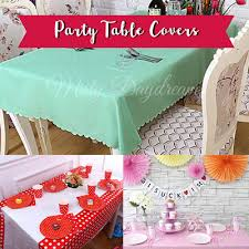 party table covers qoo10 tassels garlands furniture deco