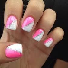 pink and black nails nails pinterest black nails black and