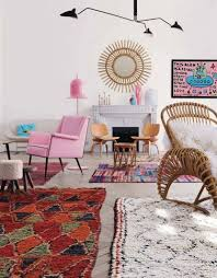 how to mix multiple rugs in the same room emily henderson