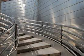 Stainless Steel Handrails For Stairs Modern Circular Staircase With Stainless Steel Balustrades