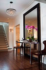 Large Mirror Foyer With Console Table And Framed Large Mirror Decorating Your