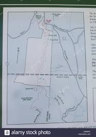 Map Of Florida State Parks by Map Of Trails Through The Savoy Mountain State Park Stock Photo