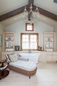 Rustic Chaise Lounge Tufted Chaise Lounge Bathroom Traditional With Bathroom Chandelier