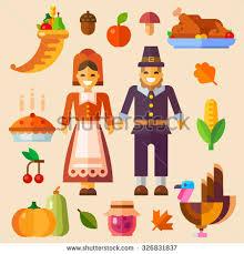 thanksgiving day thanksgiving symbols pumpkin autumn stock vector