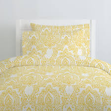 Yellow And White Duvet White And Yellow Vintage Damask Duvet Cover Carousel Designs