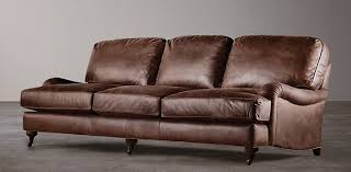 Distressed Leather Loveseat Seating Collections Rh