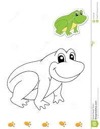 coloring book of animals 14 frog royalty free stock images