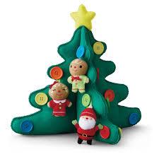 hallmark keepsake kids tabletop plush christmas tree with buttons