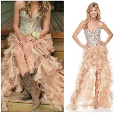 high low wedding dress with cowboy boots high low dresses with boots s style