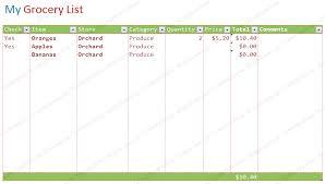 blank grocery list template short format list templates