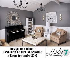 design on a dime living room white gray charcoal gold