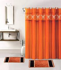 curtains orange shower curtain yellow and red bathroom decor