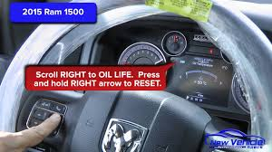 how to reset check engine light on dodge ram 1500 2015 ram 1500 oil light reset service light reset youtube