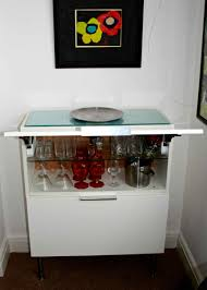 kitchen wall cabinet to modern mini bar ikea hackers ikea hackers