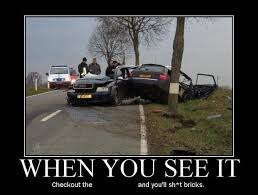 Car Wreck Meme - car crash accident demotivational poster car cut in half