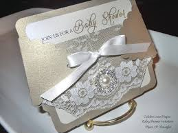 golden luxe diaper baby shower invitation