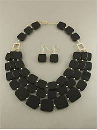 black glass necklace images Black long layered bead and glass necklace gina marie jewels jpg