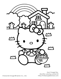 hello kitty coloring pages hello kitty easter bunny coloring page