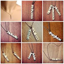 name charm necklace sterling silver cutout name charm necklace steven engravers